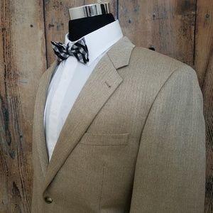 Jos A Bank Sport Coat Mens 43 R Silk Camelhair